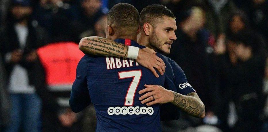 Mbappe și Icardi. Sursă foto: goal.com