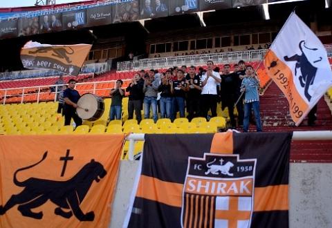 Fanii lui Shirak. Sursă foto: news.am