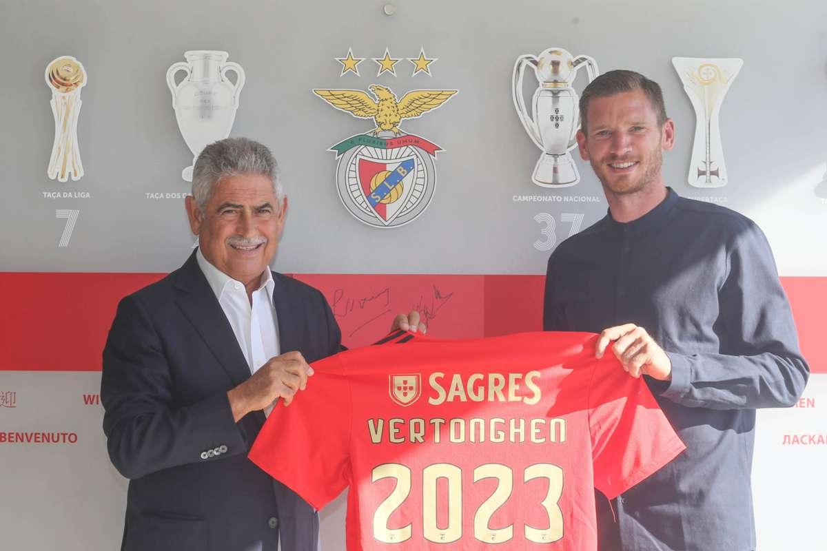 Jan Vertonghen la Benfica. Sursă foto: benfica.pt