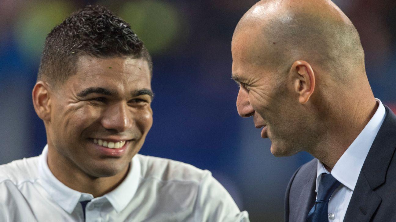 Casemiro și Zidane. Sursă foto: goal.com