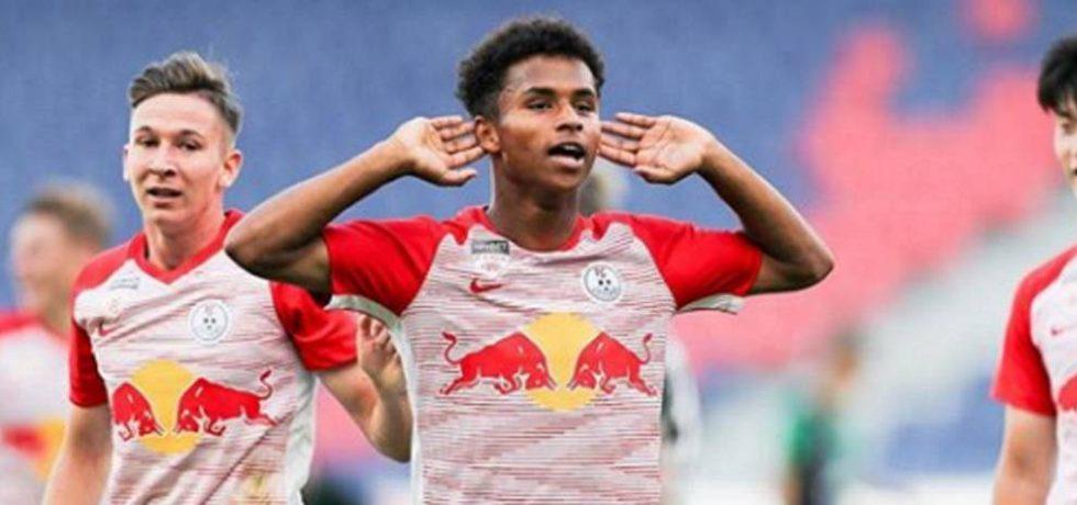 A debutat în UCL atacantul cu origini românești de la Red Bull Salzburg. Sursă foto: goal.com