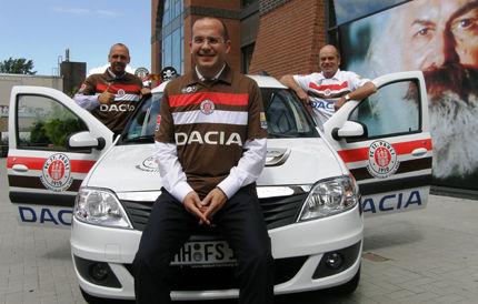 St. Pauli și Dacia. Sursă foto: sport.ro