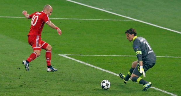 Golul lui Arjen Robben din finala Champions League cu Dortmund. Sursă foto: goal.com