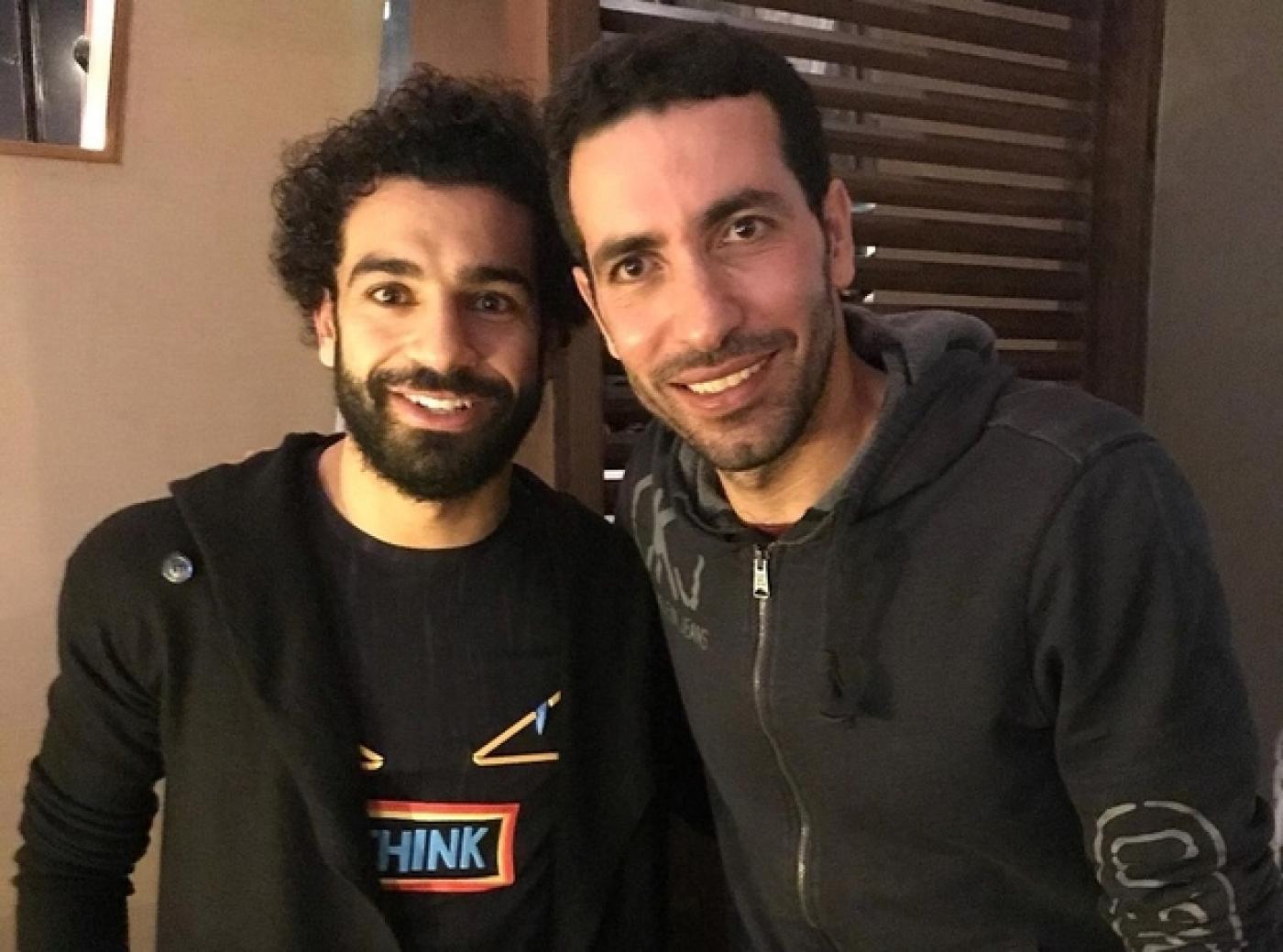 Mohamed Salah și Mohamed Aboutrika. Sursă foto: Facebook
