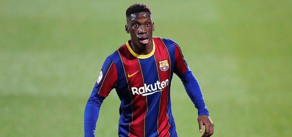 Ilaix Moriba, emoționat după primul gol la Barcelona. Sursă foto: goal.com