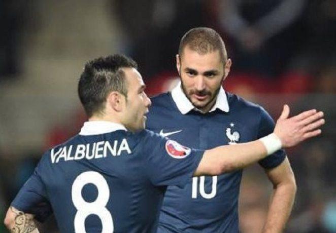 Reacția lui Valbuena când a aflat că Benzema a fost convocat la naționala Franței. Sursă foto: goal.com