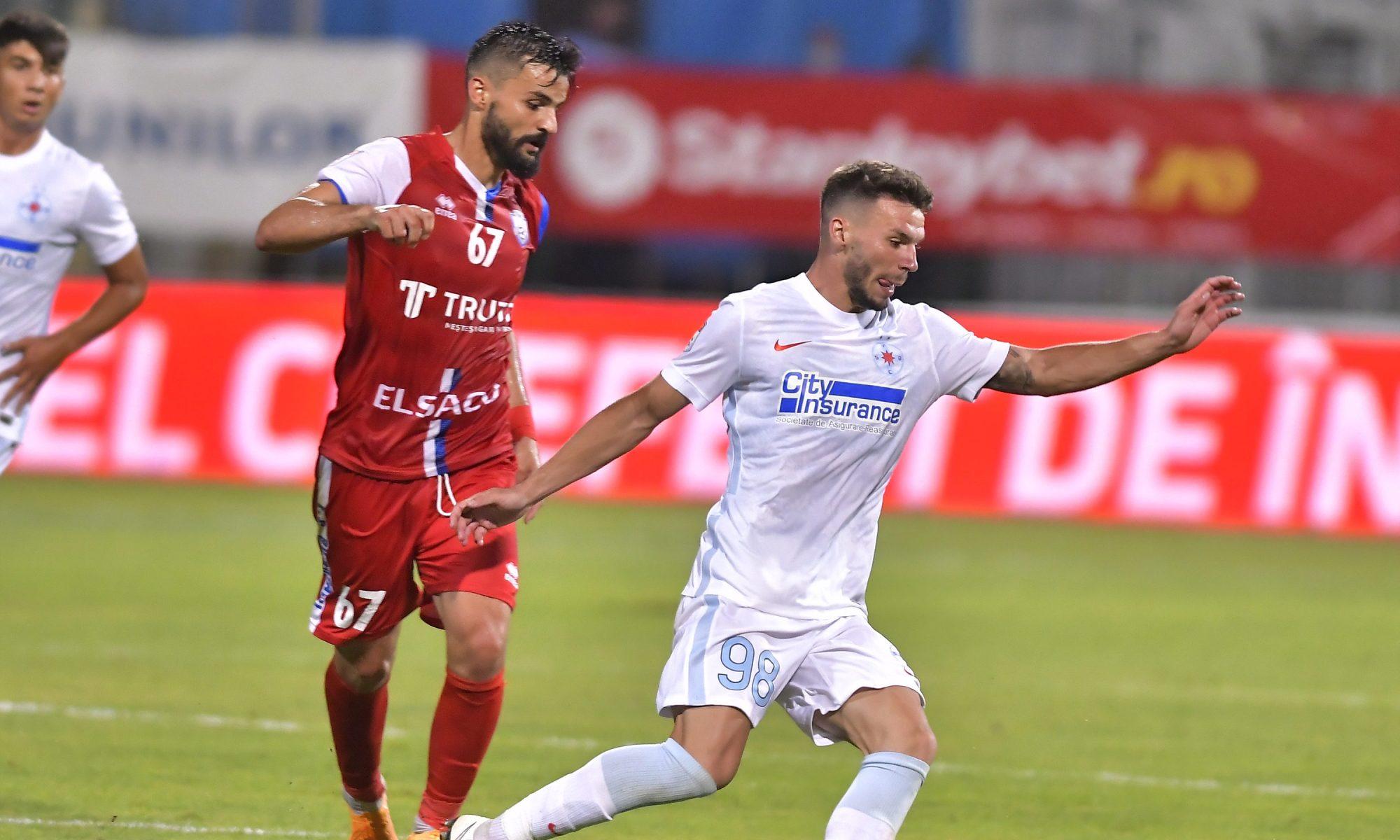 Andrei Cordea, în duelul cu FC Botoșani. Sursă foto: sportpictures.eu