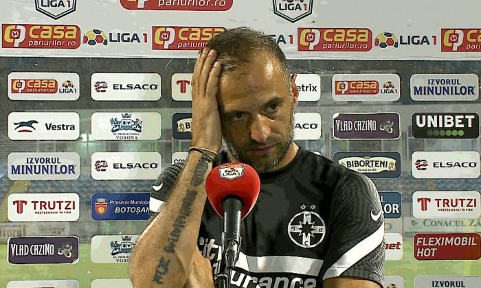 Dinu Todoran, nervi la conferința de presă. Sursă foto: digisport.ro
