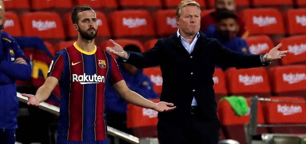 Koeman îi dă replica lui Pjanic. Sursă foto: marca.es