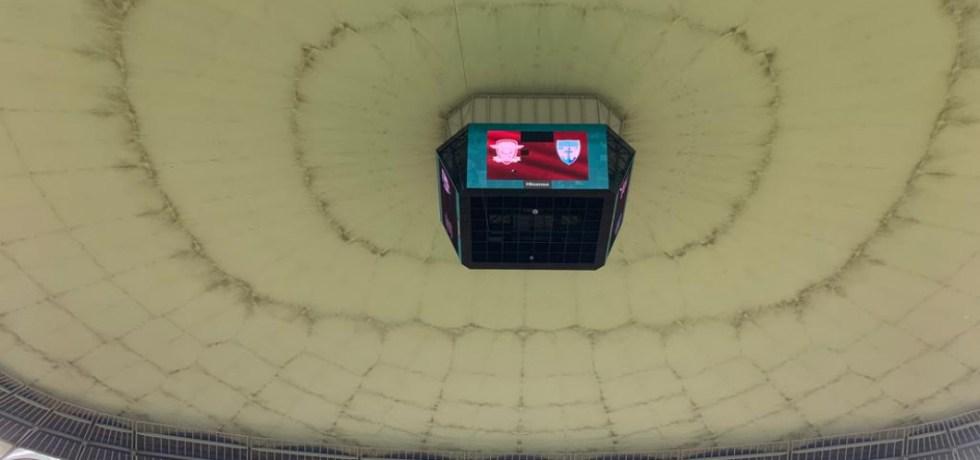 De ce s-a tras acoperișul pe National Arena la meciul Rapid - Voluntari, deși nu a plouat. Sursă foto: gsp.ro