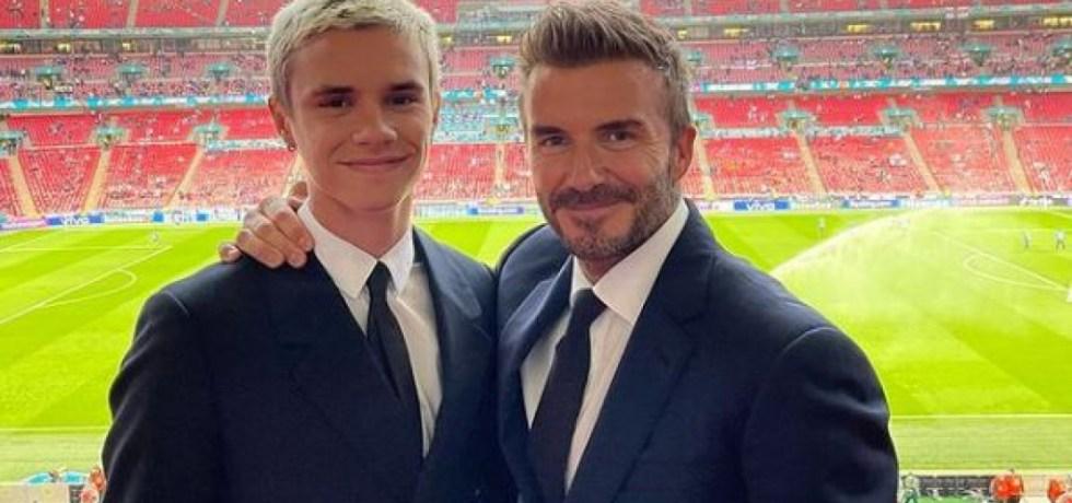 David Beckham, dur cu fiul său după debutul din fotbal. Sursă foto: goal.com